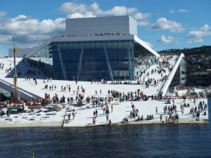 Almost, almost but not quite going to the Norway Opera House (image from Google Images).