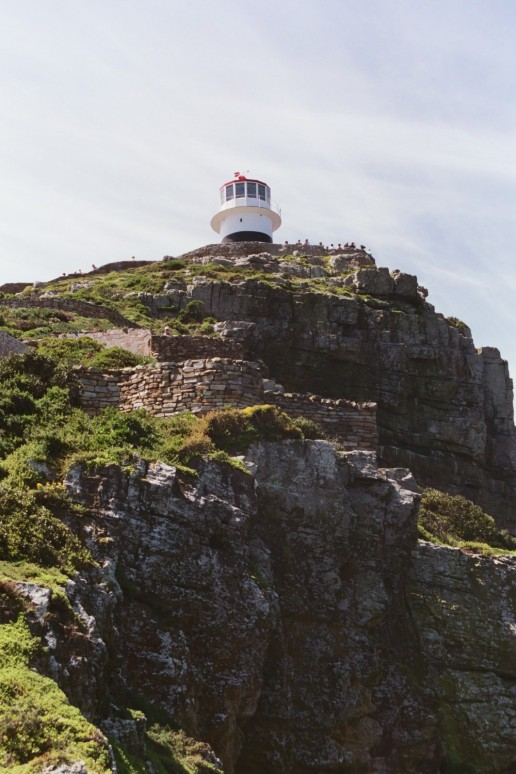The original lighthouse at Cape Point, SA, built too high to actually help ships.