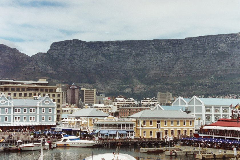 The Cape Town waterfront with the stunning Table Mountain in the backgroun