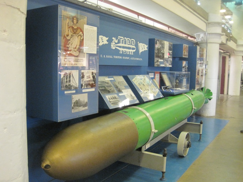 Display at the Torpedo Factory featuring --wait for it-- old torpedo's made at the cite