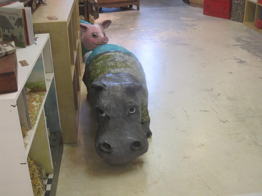 Paper mache Rhino at the Torpedo Factory