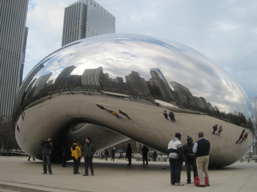 """The Bean"" in Millennium Park Chicago"