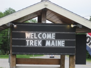 Sunday River welcome sign for Trek Across Maine cyclists
