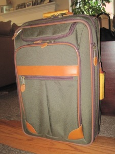 My new suitcase, the LL Bean Sportsman, in all it's new glory.