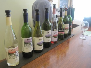 The  great wines sampled at Sharp Rock Vineyards