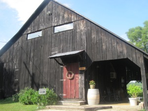Yep, this old barn is home to an amazing Rose wine. Enter and enjoy!