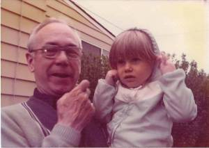 Me and my Grandfather, circa 1976