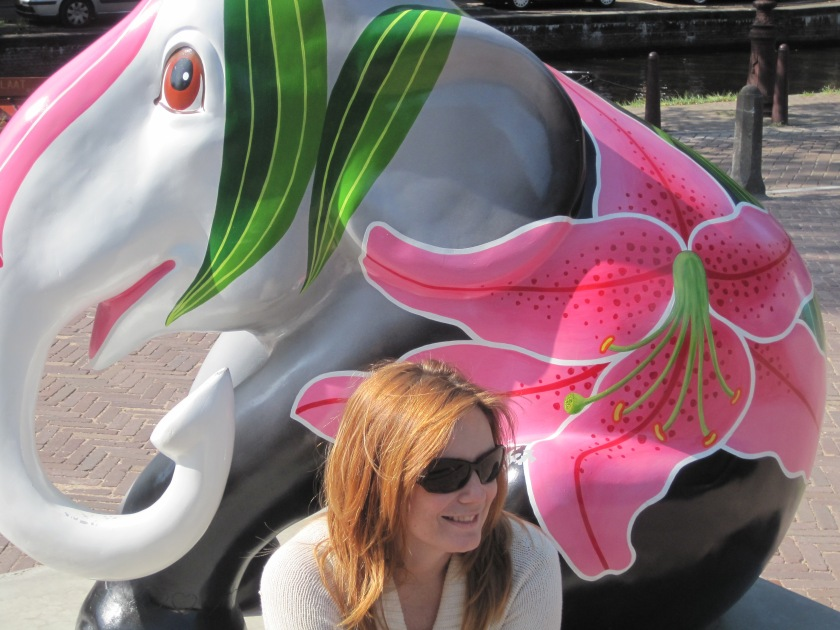When i was visiting Amsterdam, these elephants were all over the city. The statues were donated to Christie's with all proceeds to benefit the Elephant Family. We passed this one several times. Photo circa 2009