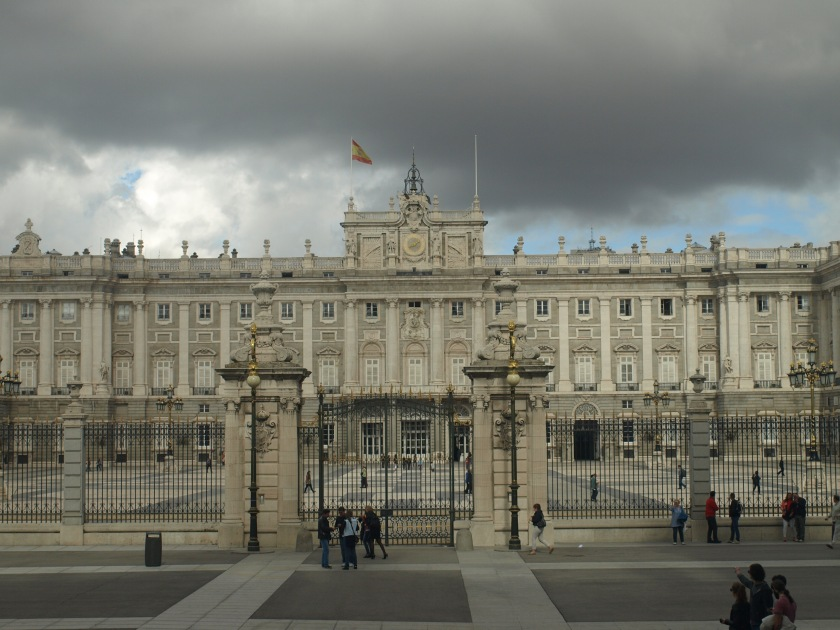 The courtyard outside Spain's royal palace. Royal's not included. Photo taken in Madrid, Spain circa 2013