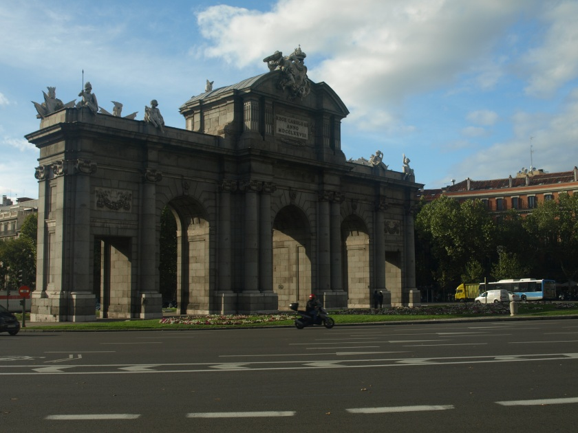 Plaza de la Independencia is an unofficial gateway to Madrid's Bourbon neighborhood. Photo taken in Madrid, circa 2013.