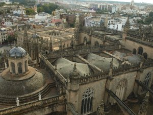 Views of Seville from La Giralda. Worth the climb!