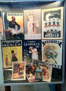 A collection of vintage chocolate posters. I love vintage art, so these spoke to me.