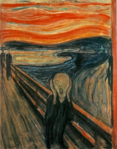 The Scream accurately describes how I felt after riding the Cyclone. (Image courtesy of wikipedia)