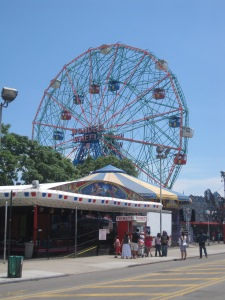 The wonder wheel at Coney Island.