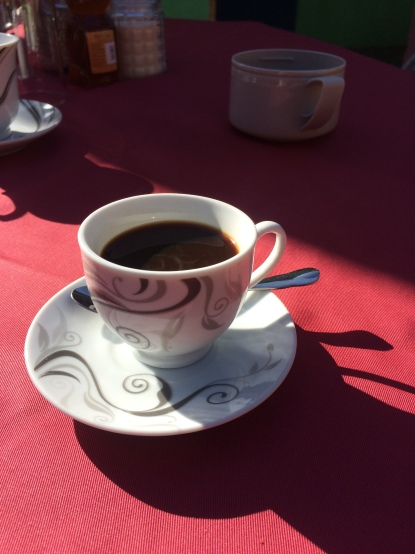 Cuban coffee, courtesy of my host in Trinidad.